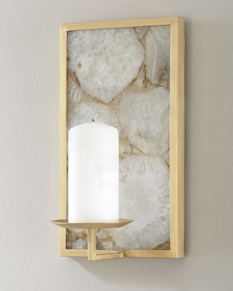 Crystal Agate Candle Stand
