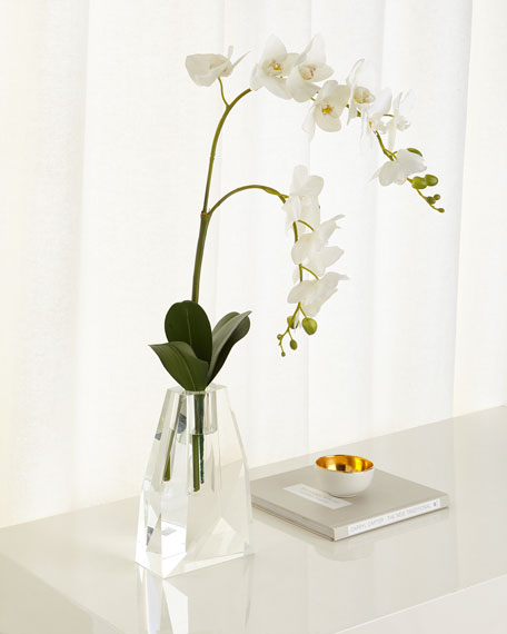 John-Richard Collection Crystal Ice Phalaenopsis Arrangement