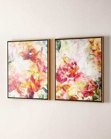 Summer Roses Giclées, Set of 2