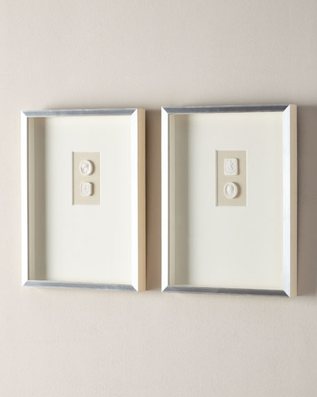 Medium Triple Framed Intaglios, Set of 2