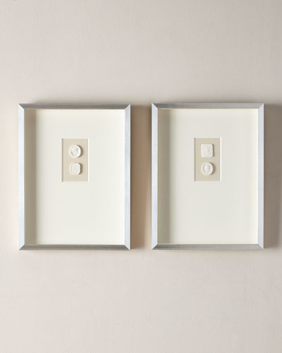 Medium Triple Framed Intaglios  Set of 2