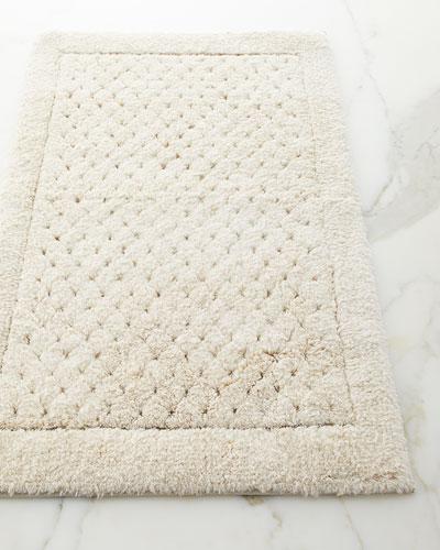Linen Waffle Bath Rug
