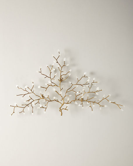 Quartz Crystal Branch Wall Sculpture