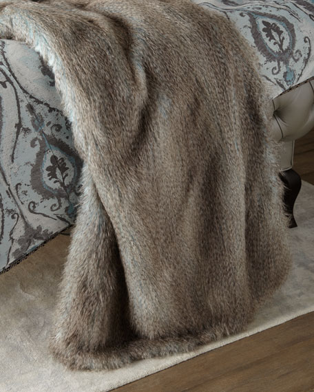 Dian Austin Couture Home Paolo Faux-Fur Ostrich Throw