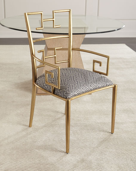 Massoud Kalmata Brass Arm Chair