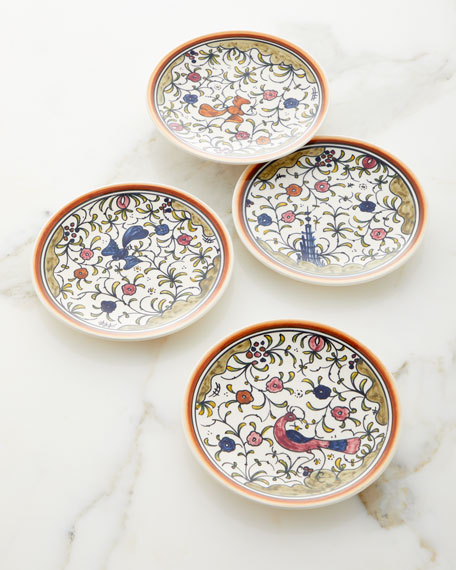 Keramos Nazari Pavoes Appetizers Plates, Set of 4