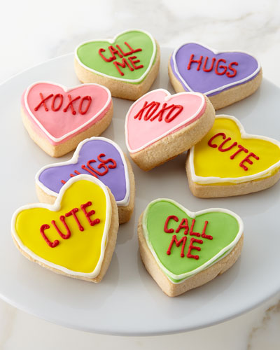 Conversation Hearts Shortbread Cookies