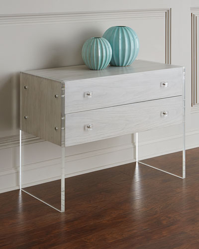 Bellamy Acrylic and Wood Chest