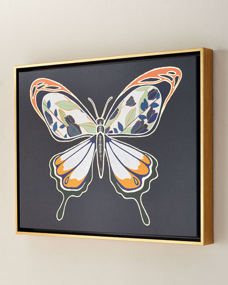 Luxe Butterfly I Giclee, 24 x 18