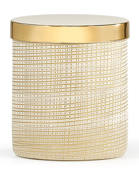 Woven Canister, Gold