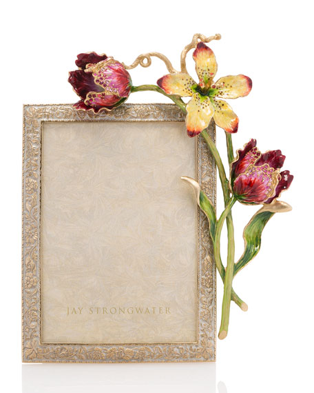 Jay Strongwater Margery Flora Tulip Picture Frame, 5