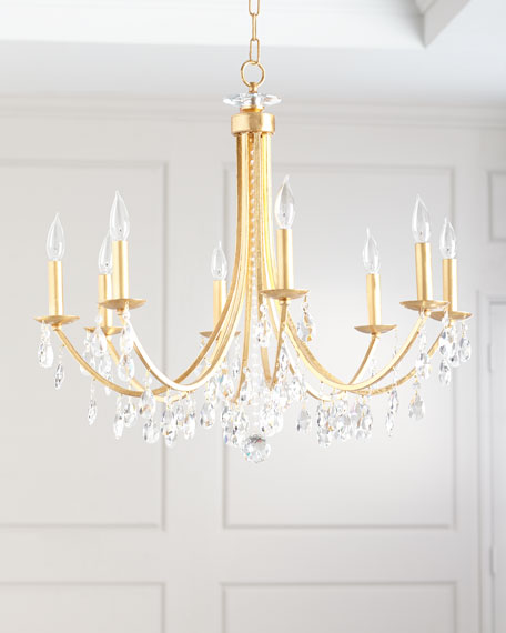 Crystorama Hampton 8-Light Antiqued Gold Chandelier