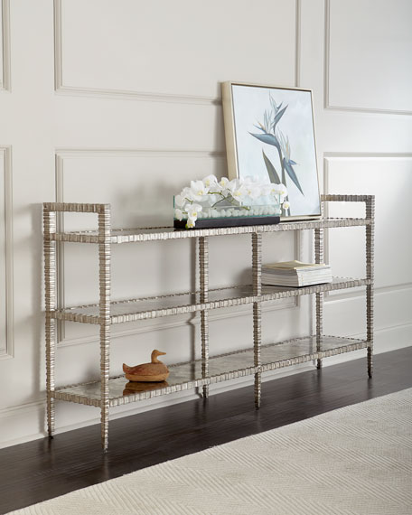 Lunar 3-Tiered Mirrored Console