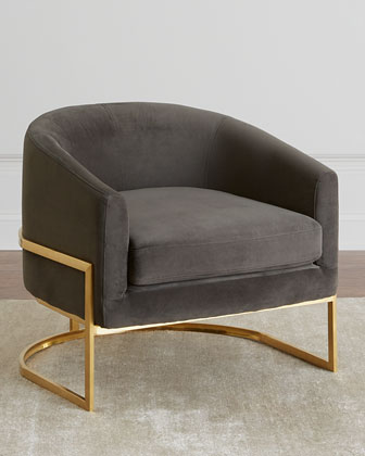 Arnette Brass Framed Chair
