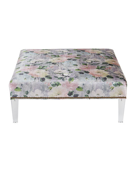 Lille Floral Ottoman
