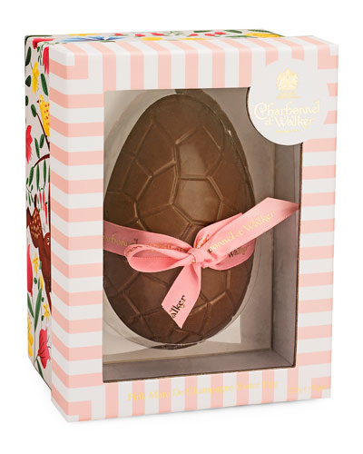 Pink Chocolate Egg with Marc de Champagne Truffles