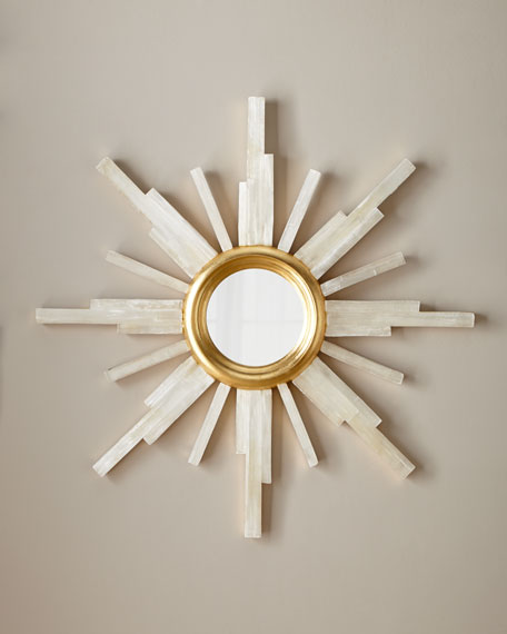 John-Richard Collection Selenite Star Mirror