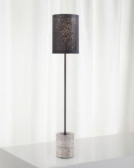 Starlight Illumination Bronze Console Table Lamp