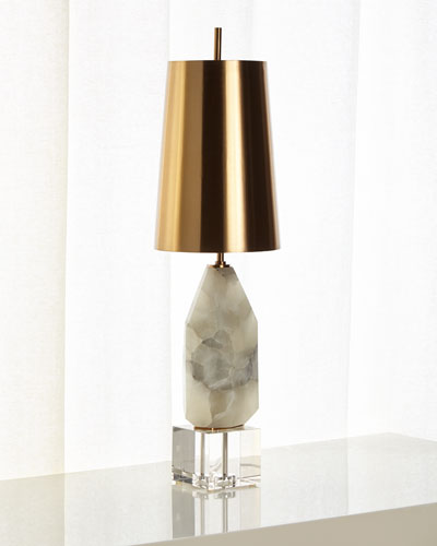 Multifaceted Alabaster Lamp