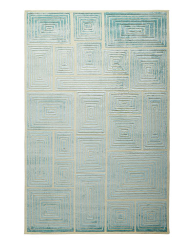 Blocks Hand-Knotted Rug  6' x 9'