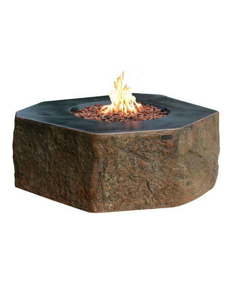 Elementi Columbia Outdoor Fire Pit Table with Natural