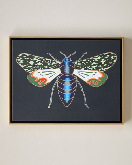 "Luxe Bee IV Wall Art, 24"" x 18"""