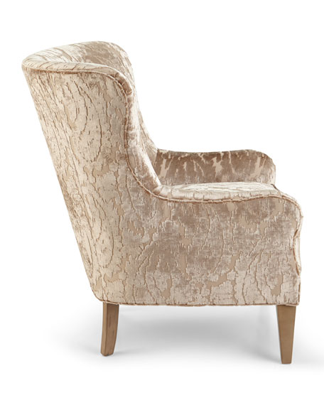 Truffle Button Tufted Wing Chair