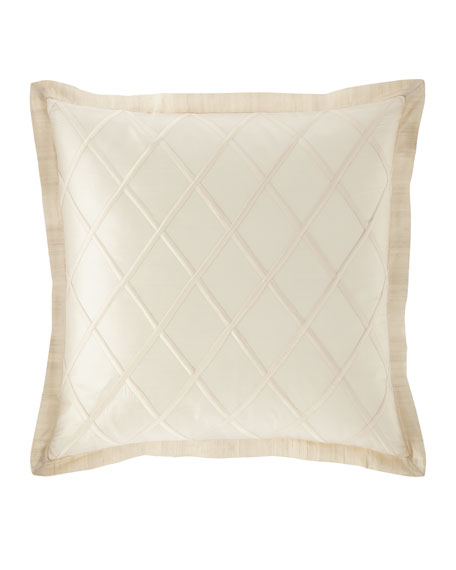 Austin Horn Collection Luna Diamond Silk European Sham