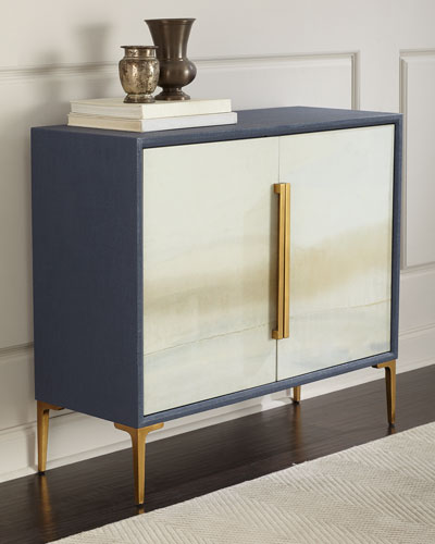 Soft Blue River Cabinet