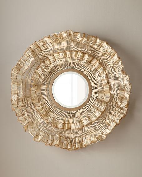 Palecek Coco Ruffle Mirror