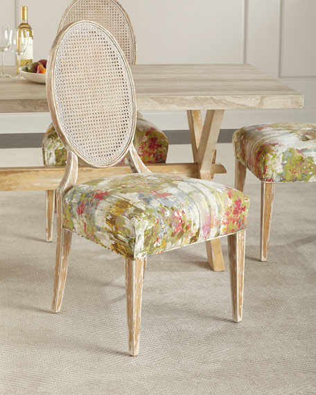 Bloom Oval Back Cane Chair