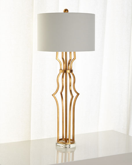 Lighting on sale table lamps at neiman marcus horchow aged gold metal erin buffet lamp aloadofball Choice Image