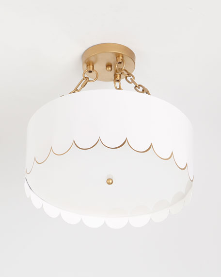 Eloise Glossy Scalloped Ceiling Fixture