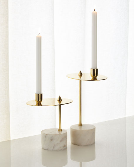 Counter Balanced Candleholders, Set of 2