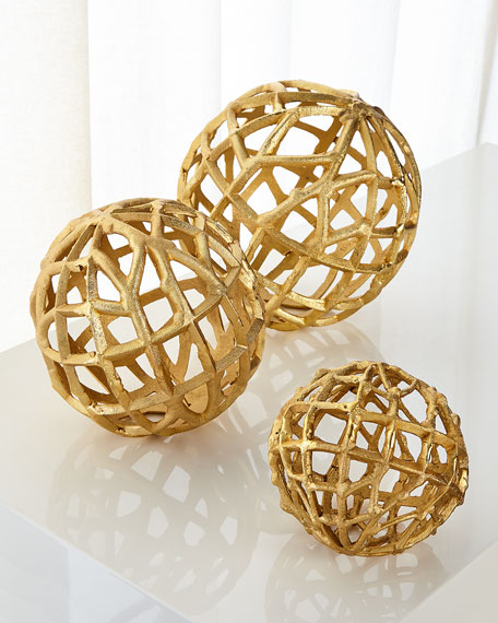 John-Richard Collection Rope Balls, Set of 3