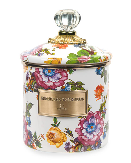 Small Flower Market Canister
