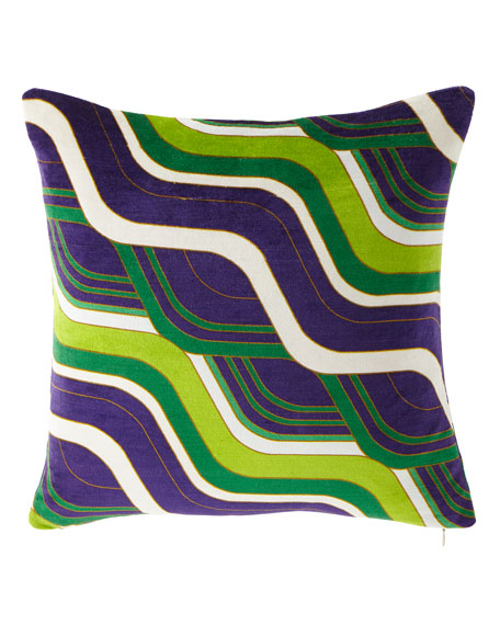Milano Mod Tide Pillow, Green/Purple