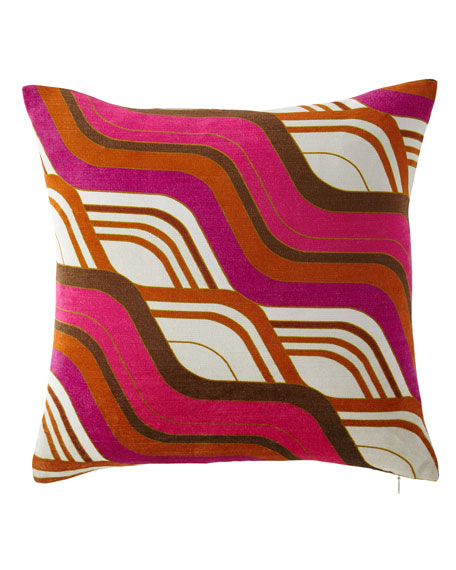Milano Mod Tide Pillow, Orange/Pink