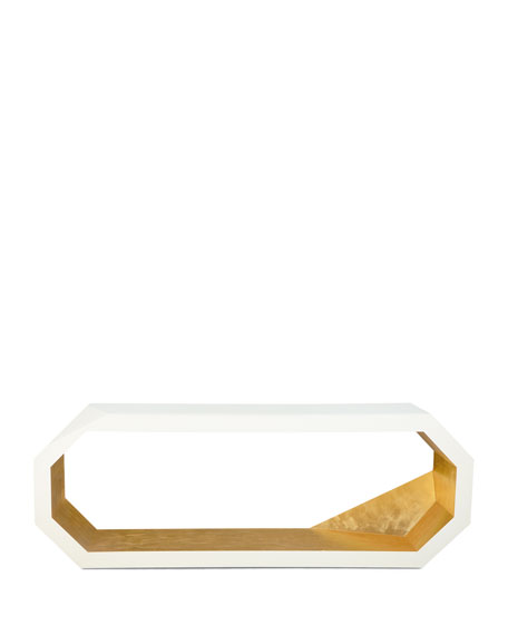 Marquee Gold Leaf Console Table