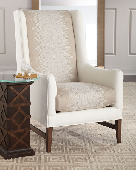 Massoud Lyric Tall Back Wing Chair
