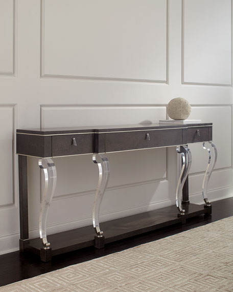 Axle Acrylic-Leg Console Table