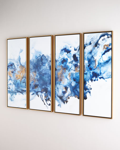 Blue Lagoon Giclees, Set of 4