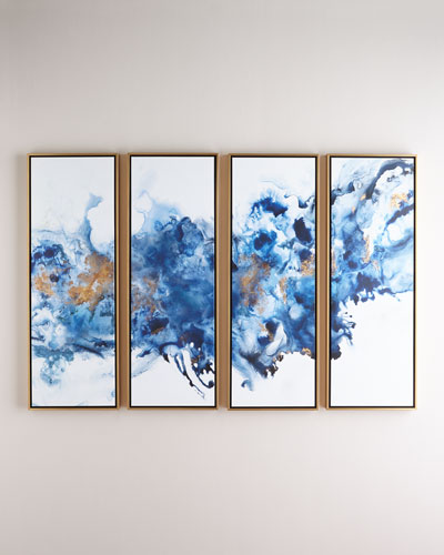 Blue Lagoon Giclees  Set of 4