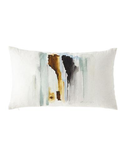 Hand-Painted Breeze Shell Lumbar Pillow