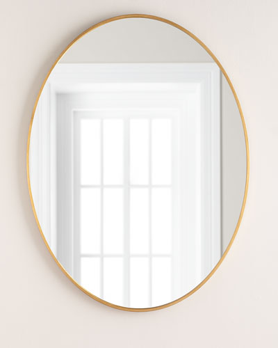 Oval Mirror  Gold