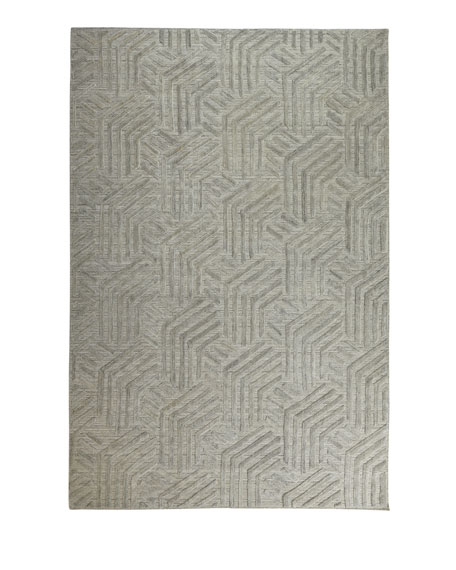 Muriel Hand-Knotted Rug, 7.9' x 9.9'
