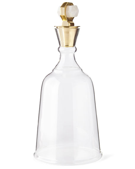 Gold Levi Quartz Decanter