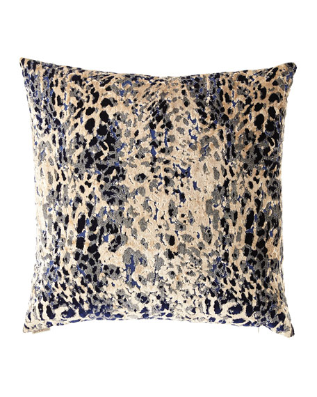D.V. Kap Home Sarabi Blue Cut Velvet Pillow