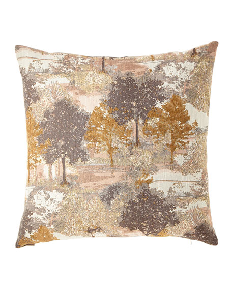 Sycamore Metallic Jacquard Pillow