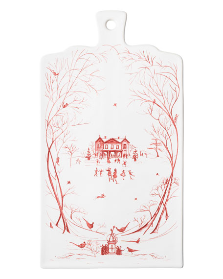 Country Estate Winter Frolic Ruby Serving Board